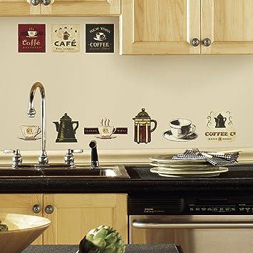 RoomMates RMK1254SCS Coffee House Peel u0026 Stick Wall Decals
