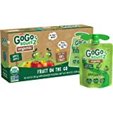 GoGo squeeZ Organic Applesauce, Apple Apple, 3.2 Ounce (12 Pouches), Gluten Free, Vegan Friendly, Unsweetened Applesauce…