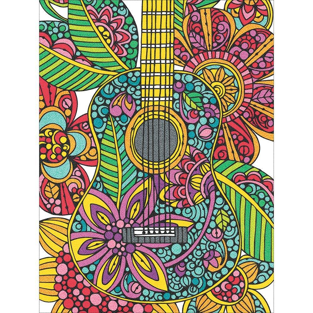 Pintura Por Numeros ( Itm-5658) Guitarra