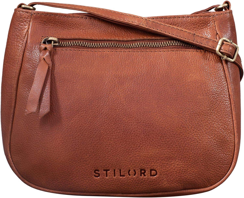 STILORD 'Samira' Handtasche Leder Frauen zum Umhängen Vintage Umhängetasche für Damen-Tasche Abendtasche Elegante Echtleder Tasche -