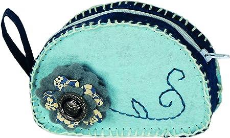 Kleiber - Juego de Manualidades de Bricolaje, Monedero de Fieltro, Color Azul Celeste: Amazon.es: Hogar