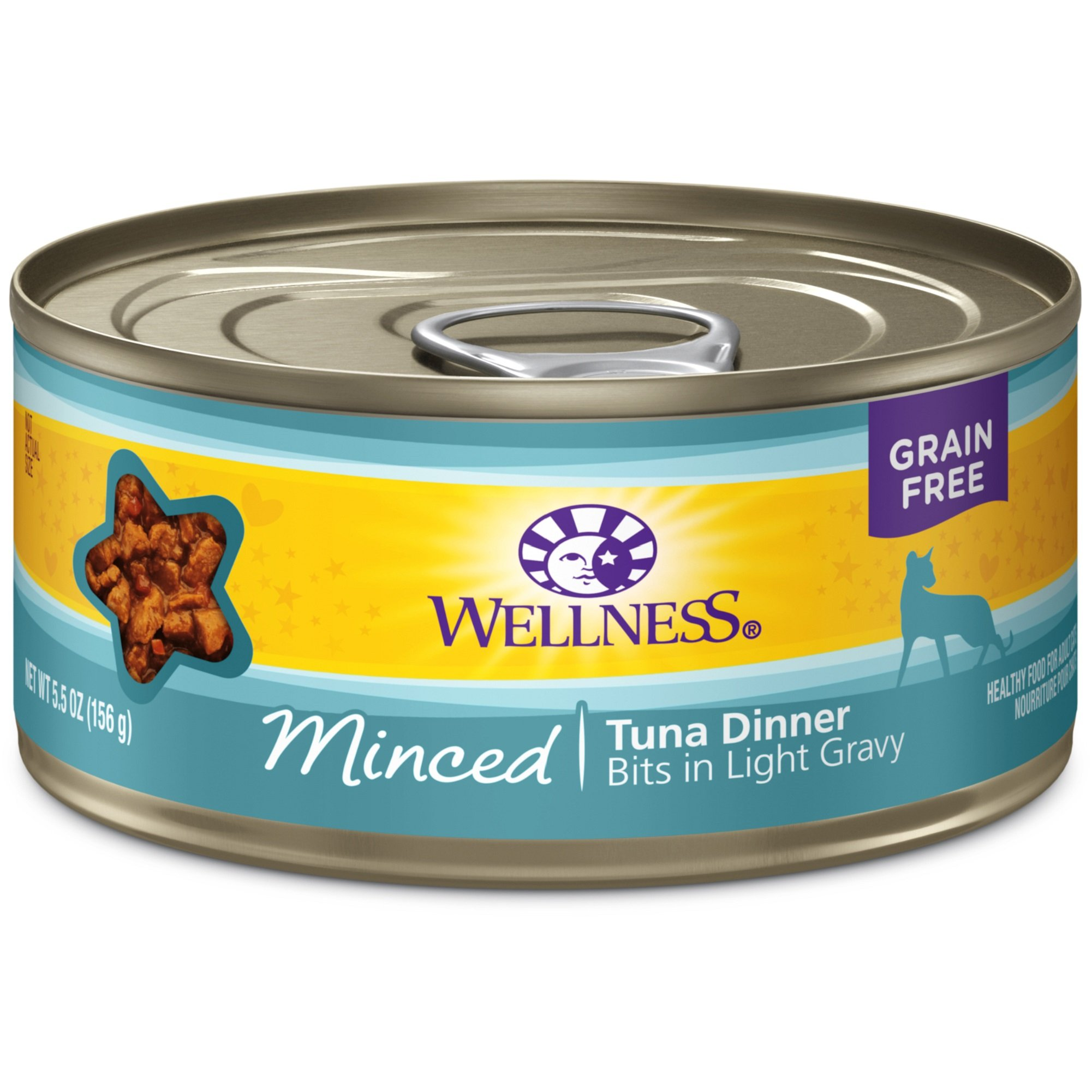 Wellness Complete Health Natural Grain Free Wet Canned Cat Food, Minced Tuna Dinner, 5.5-Ounce Can (Pack Of 24) by Wellness Natural Pet Food