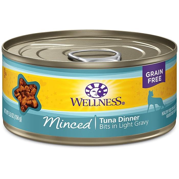 Wellness Natural Grain Free Wet Canned Cat Food Minced Tuna