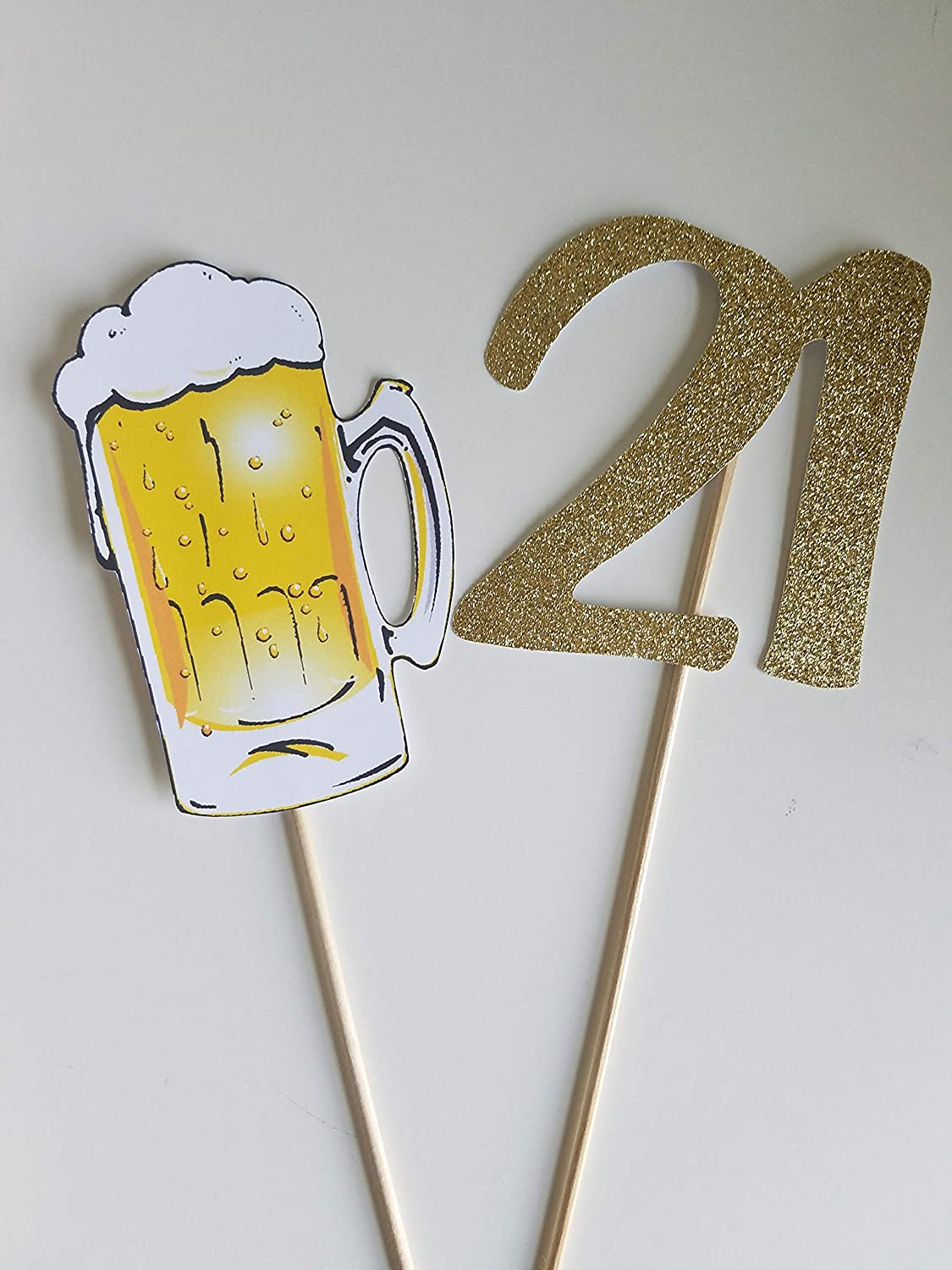 Terrific Amazon Com Beer And Glitter Number Cake Topper Beer Themed Download Free Architecture Designs Ogrambritishbridgeorg