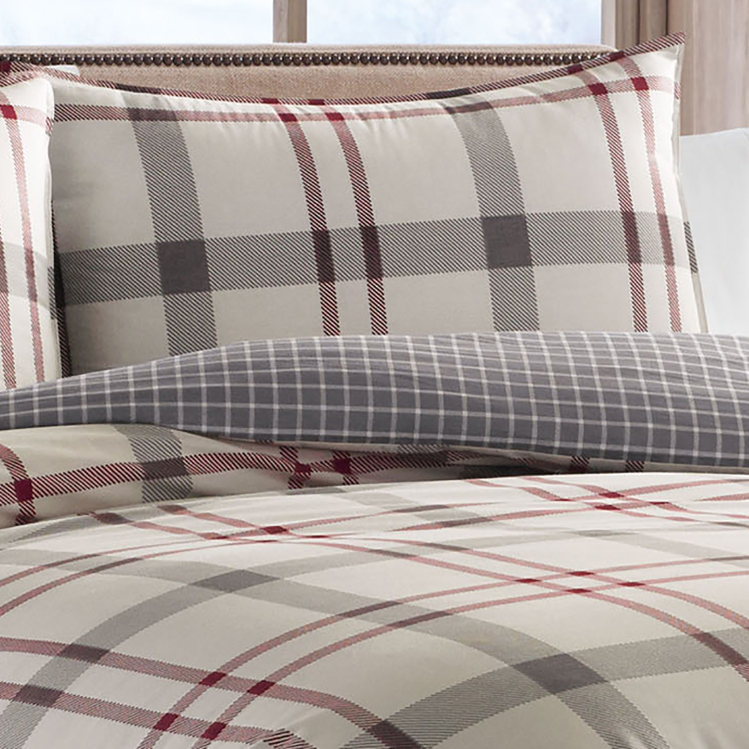 hei p qlt cannon wid reversible gray comforter prod plaid