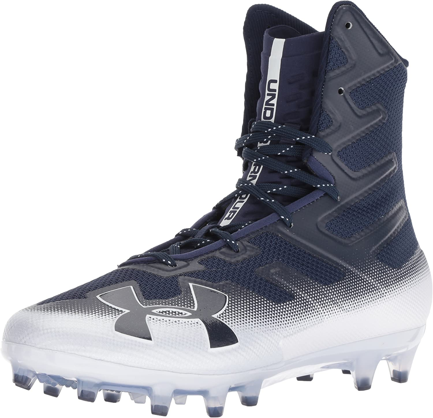 Under Armour Men's Highlight MC Football Shoe, Midnight Navy (402)/白い, 9.5
