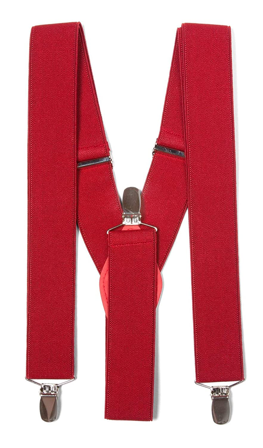 Gravity Threads Classic 1.36 Inch Wide Clip Suspenders Navy