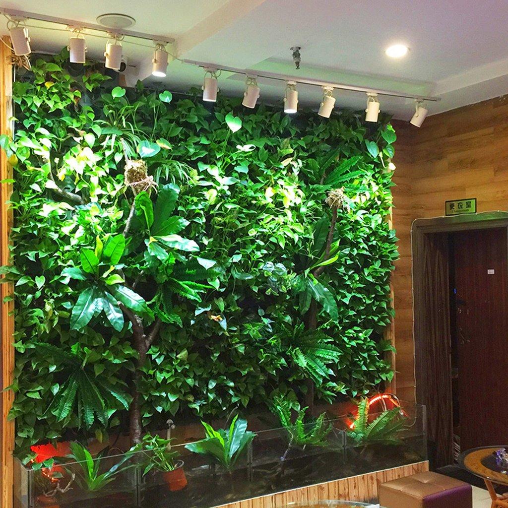 A MagiDeal Artificiel Mur Gazon Feuille De Lierre Garland Plantes Vigne Feuillage Fleur Accueil D/écor