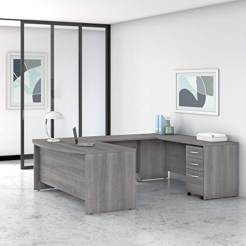 Bush Business Furniture Studio C Collection Bow Front U Desk