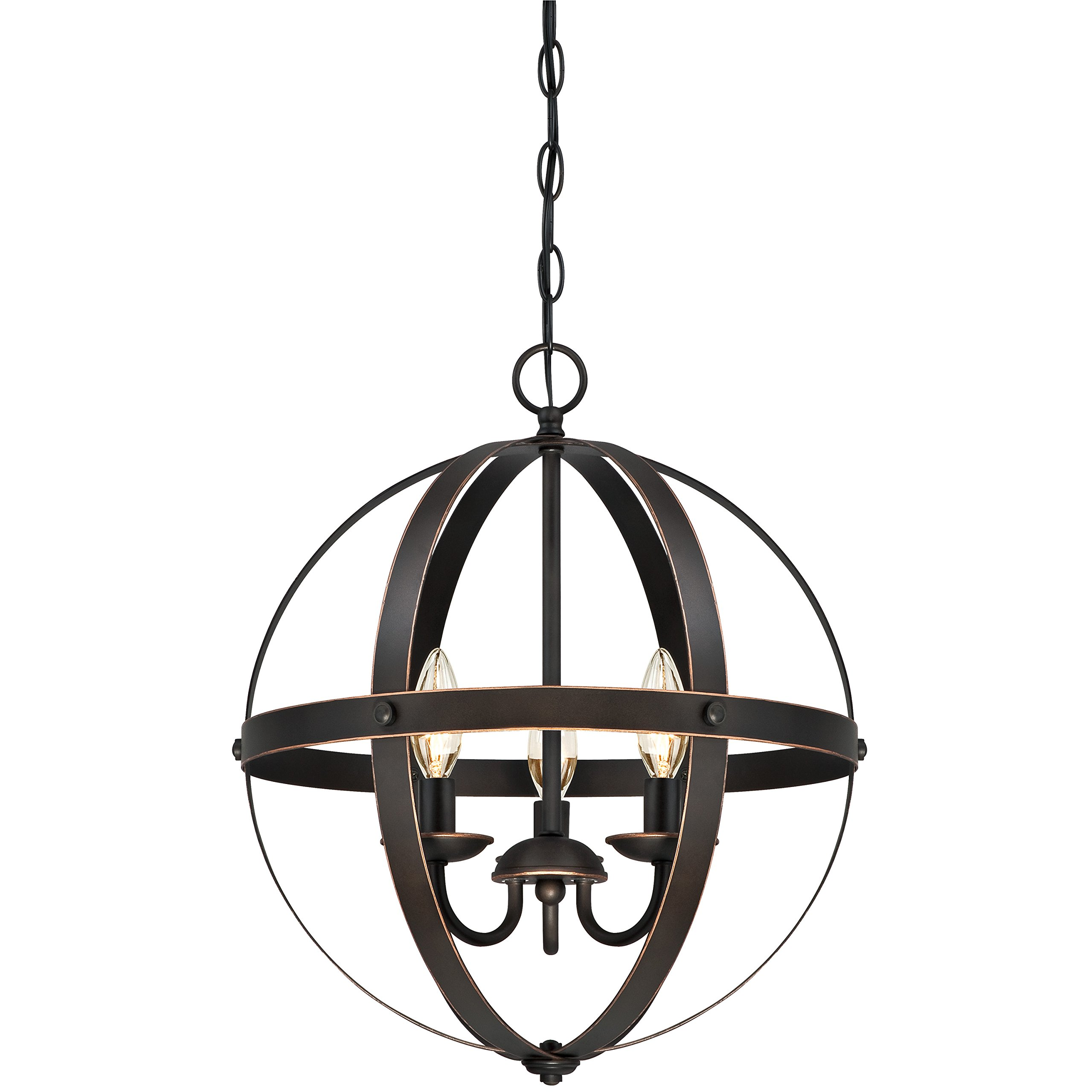 Modern Farmhouse Chandelier Rustic Globe Candle Lamp Orb Pendant 3