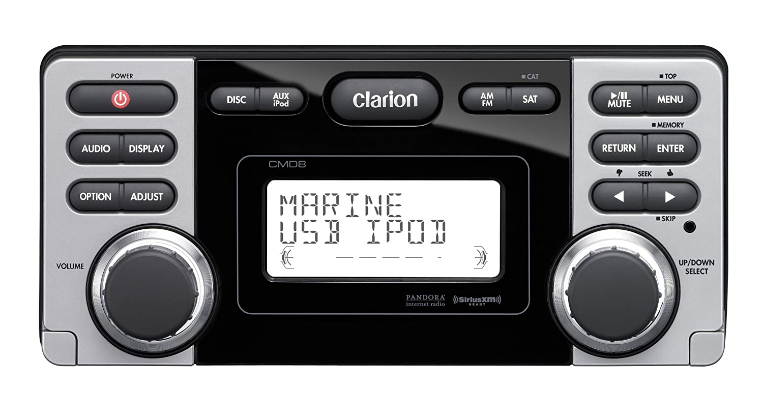 Amazon.com: Clarion CMD8 1.8-Inch Marine CD-USB-MP3 Receiver: Cell Phones &  Accessories