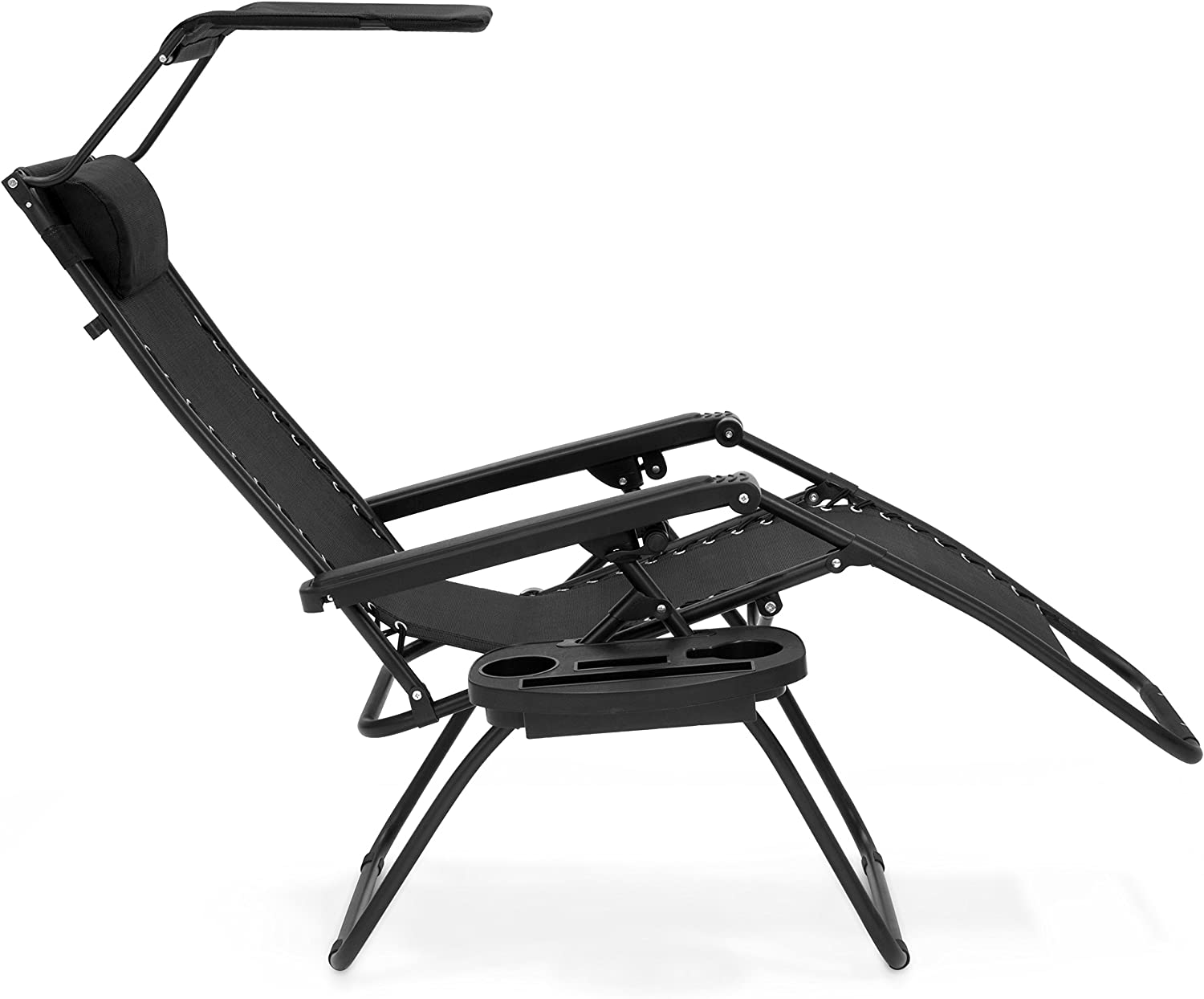 Best Choice Products Zero Gravity Chair with Canopy Sun Shade - Black