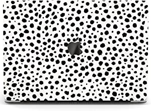 Wonder Wild Case for MacBook Air 13 inch Pro 15 2019 2018 Retina 12 11 Apple Hard Mac Protective Cover Touch Bar 2017 2016 2020 Plastic Laptop Dalmatian Pattern White Black Dot Fancy Leopard Minimal