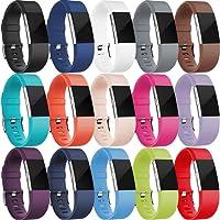 HUMENN Bracelet pour Fitbit Charge 2, Bande en TPU Silicone Souple de Remplacement Ajustable Sport Accessorie pour Fitbit Charge 2 Fitness Wristband