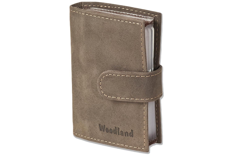 110e06dcec Woodland - Custodia per carte di credito-XXL con 19 tasche di carta di  morbide
