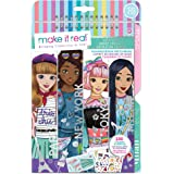 Make It Real – Fashion Design Sketchbook: City Style - Inspirational Fashion Design Coloring Book for Girls - Includes Sketch