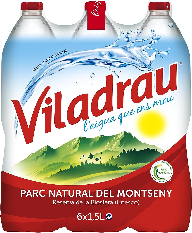 Viladrau Agua Mineral Natural - Pack de 6 x 1,5 l - Total: 9 l ...