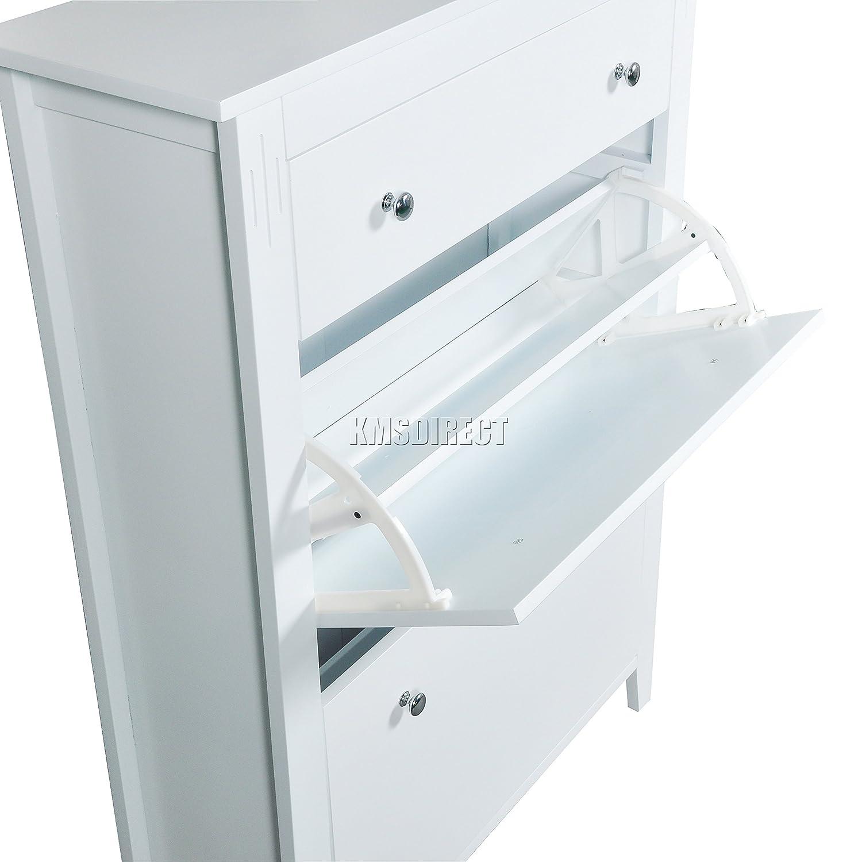 Westwood Wooden Shoe Storage Cabinet 2 Drawer Footwear Stand Rack