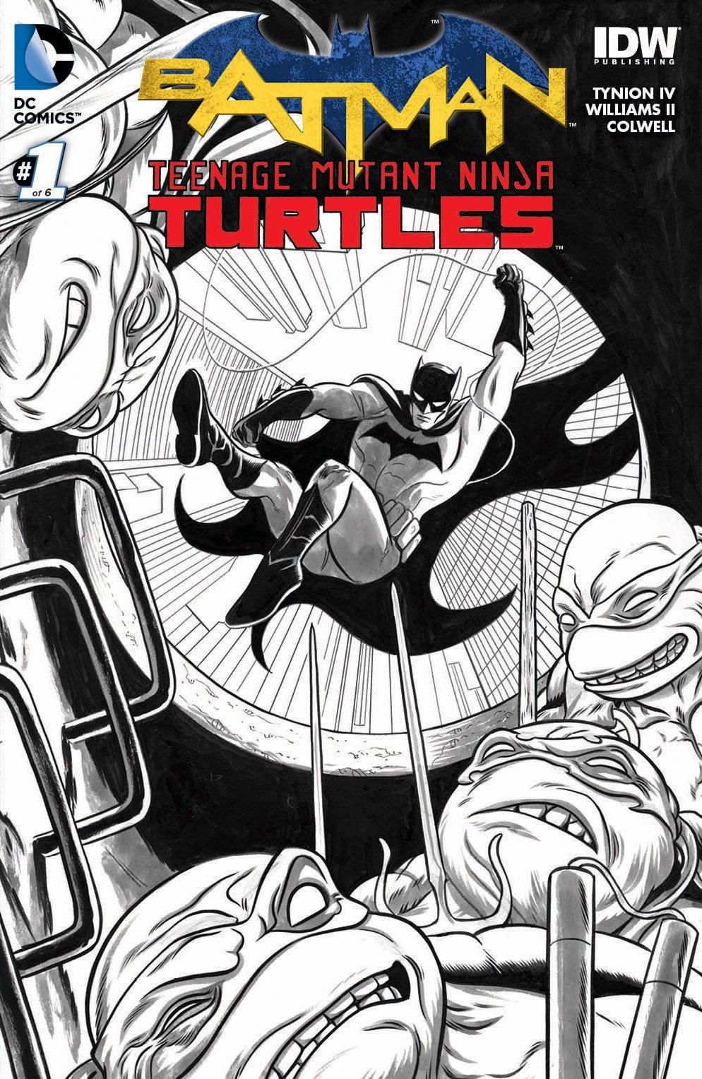 Batman Teenage Mutant Ninja Turtles #1 Newbury Comics Mike ...