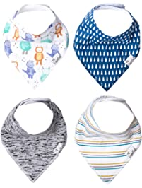 "Copper Pearl Baby Bandana Drool Bibs 4 Pack Gift Set for Boys or Girls""Max"" by Copper Pearl"