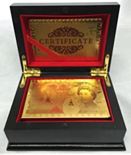 24K Gold Plated Playing Cards Poked Deck 99.9% Pure + Deluxe ...