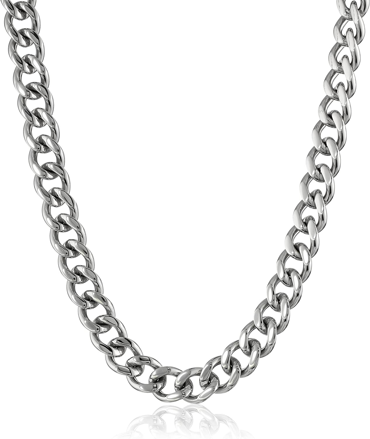 """Steel by Design Heart Shape Link Chain Necklace 20/"""" Length"""