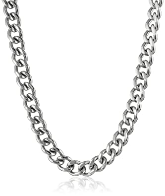 dp chain thick quot curb necklace silver sterling inspired plated designer