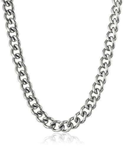 Mens Stainless Steel Curb Chain Necklace 20