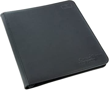 ULTIMATE GUARD GREY 4 POCKET XENOSKIN ZIPFOLIO Card Storage BINDER Page Album
