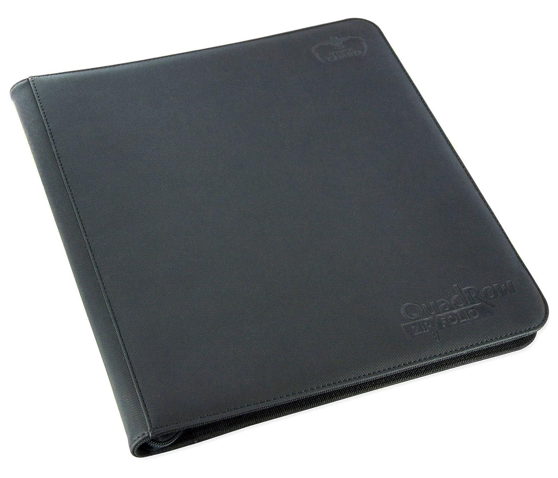 Ultimate Guard QuadRow 12-Pocket ZipFolio XenoSkin Black Card Game Flat River Group UGD010342