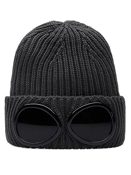 C.P. Company Grey Goggle Beanie Wool Hat One Size  Amazon.it  Abbigliamento 7cd8507d522b
