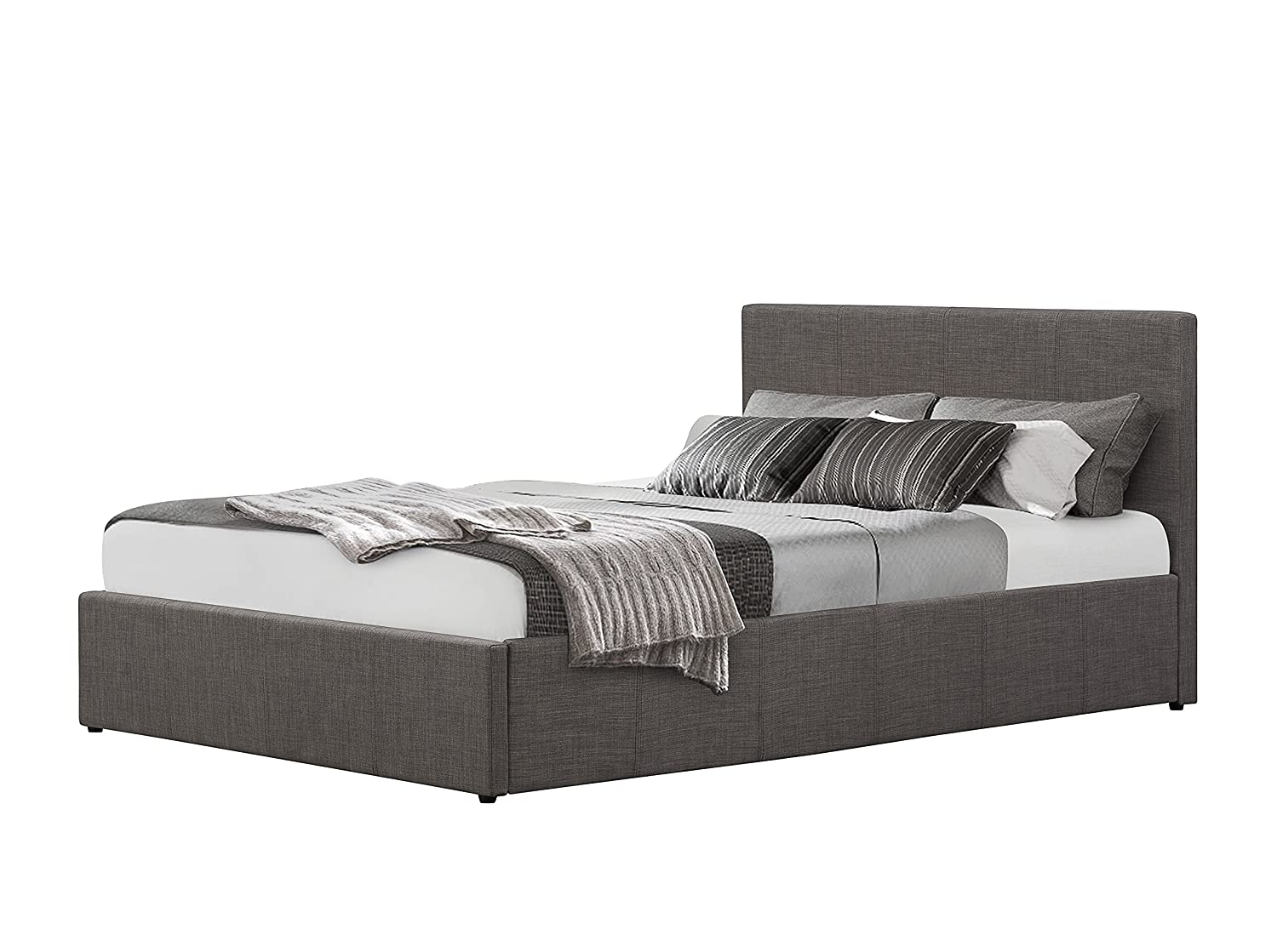 Birlea Berlin Ottoman Bed - Fabric, Grey, King Size: Amazon.co.uk ...