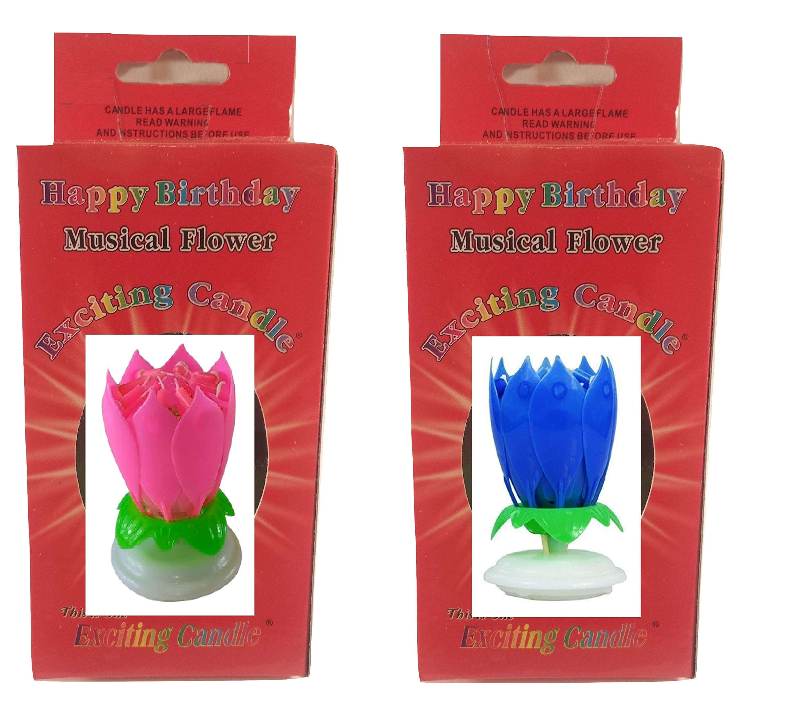 Birthday Candle Two Pack (Pink Blue)