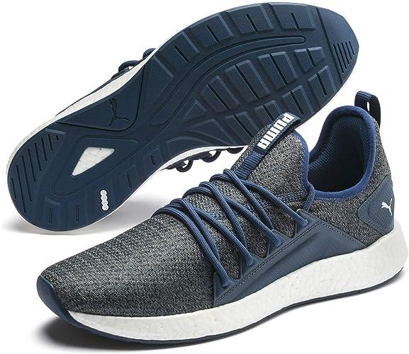 PUMA NRGY Neko Engineer Knit Herren Low Boot Sneaker Sportschuhe Schwarz Grau Schuhe, Größe:46