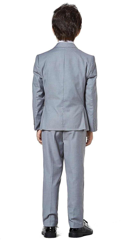 Amazon.com: Boys Classic Formal Dress Suits Set 5 Piece Slim Fit ...