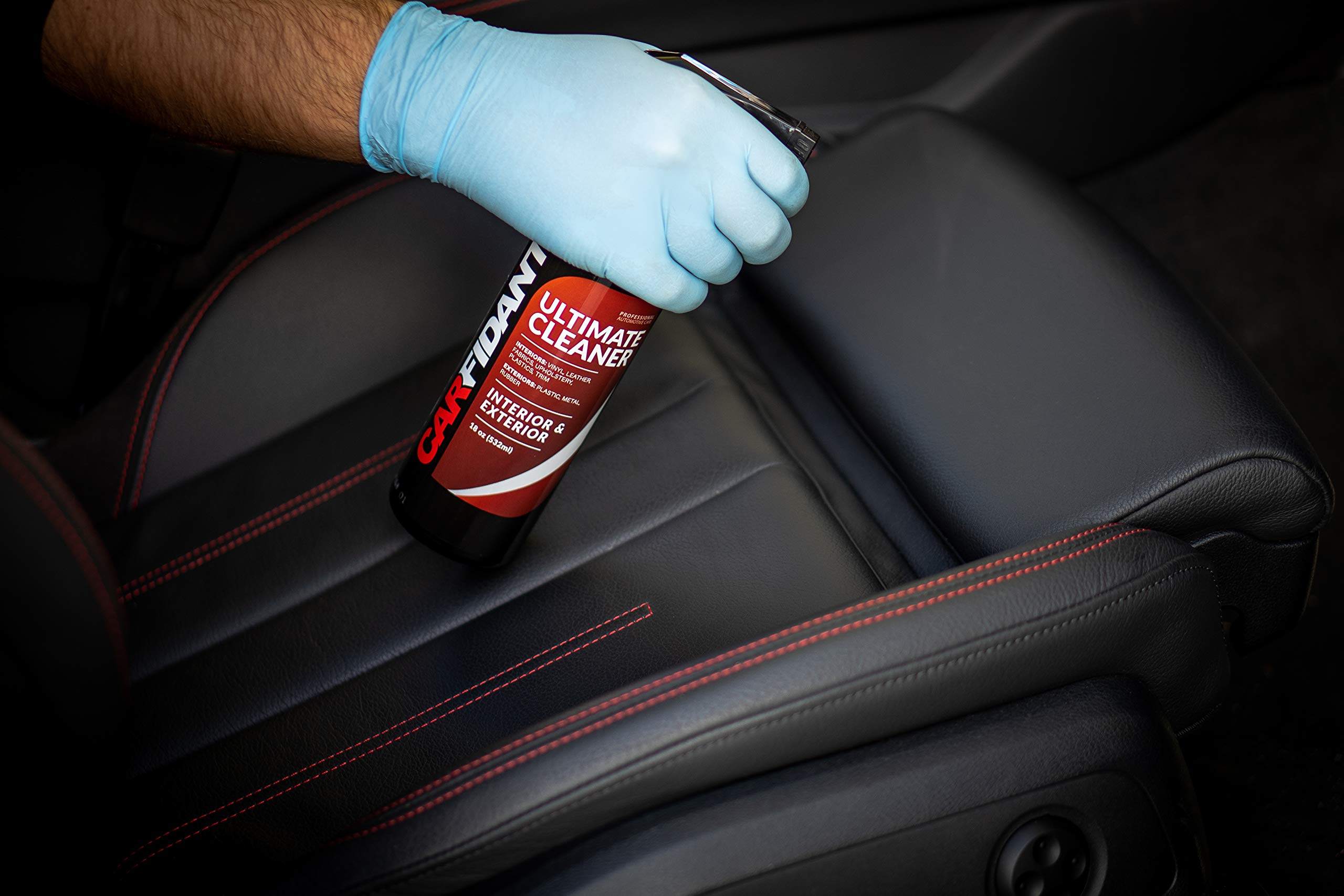 Carfidant Ultimate Car Interior Cleaner - Automotive Interior & Exterior Cleaner All Purpose Cleaner for Car Carpet Upholstery Leather Vinyl Cloth Plastic Seats Trim Engine Mats - Car Cleaning Kit by Carfidant (Image #7)