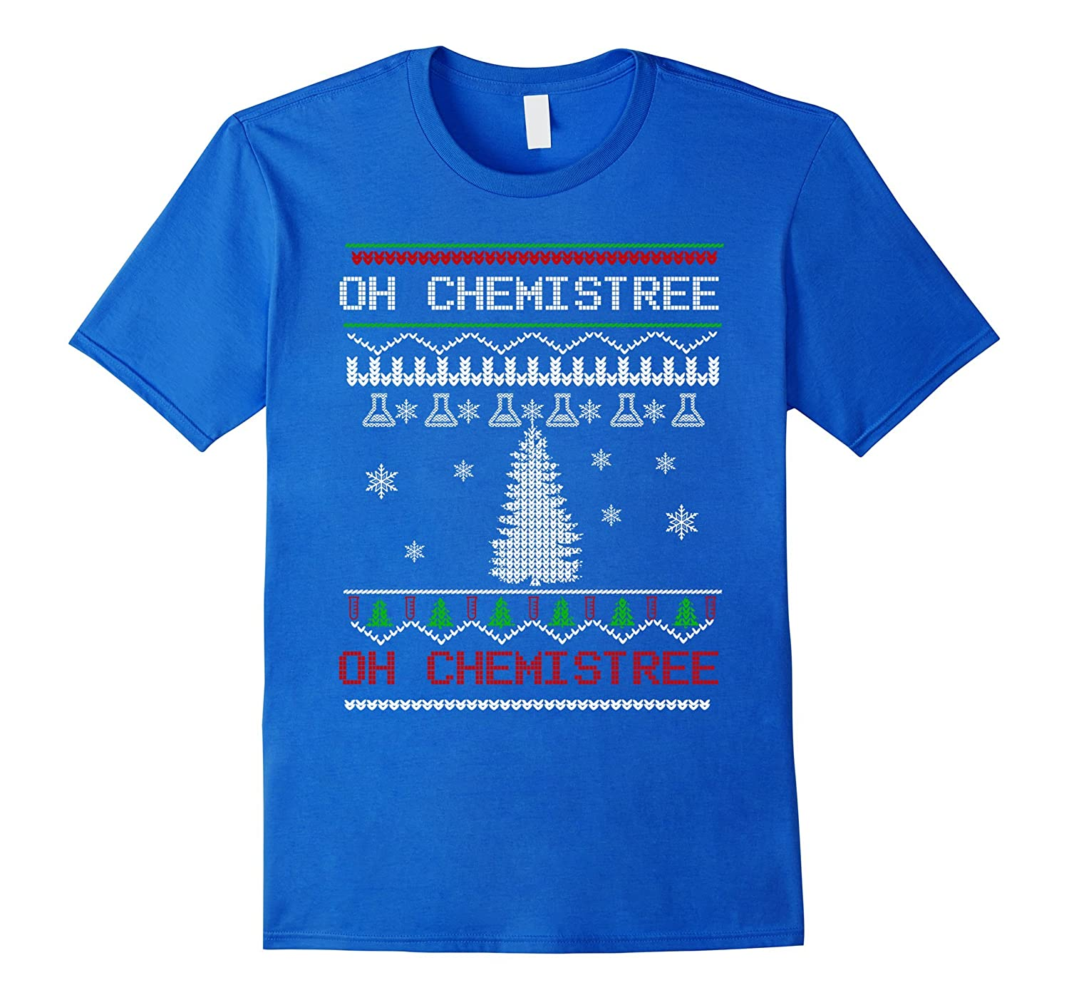 Chemistry Oh Chemistree Ugly Christmas Sweater Tshirt-Rose