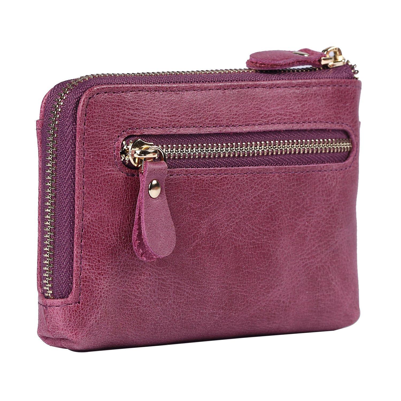 Womens Wallet Soft Leather Zipper Clutch Hand Purse Mini Wristlet Organizer Ladies