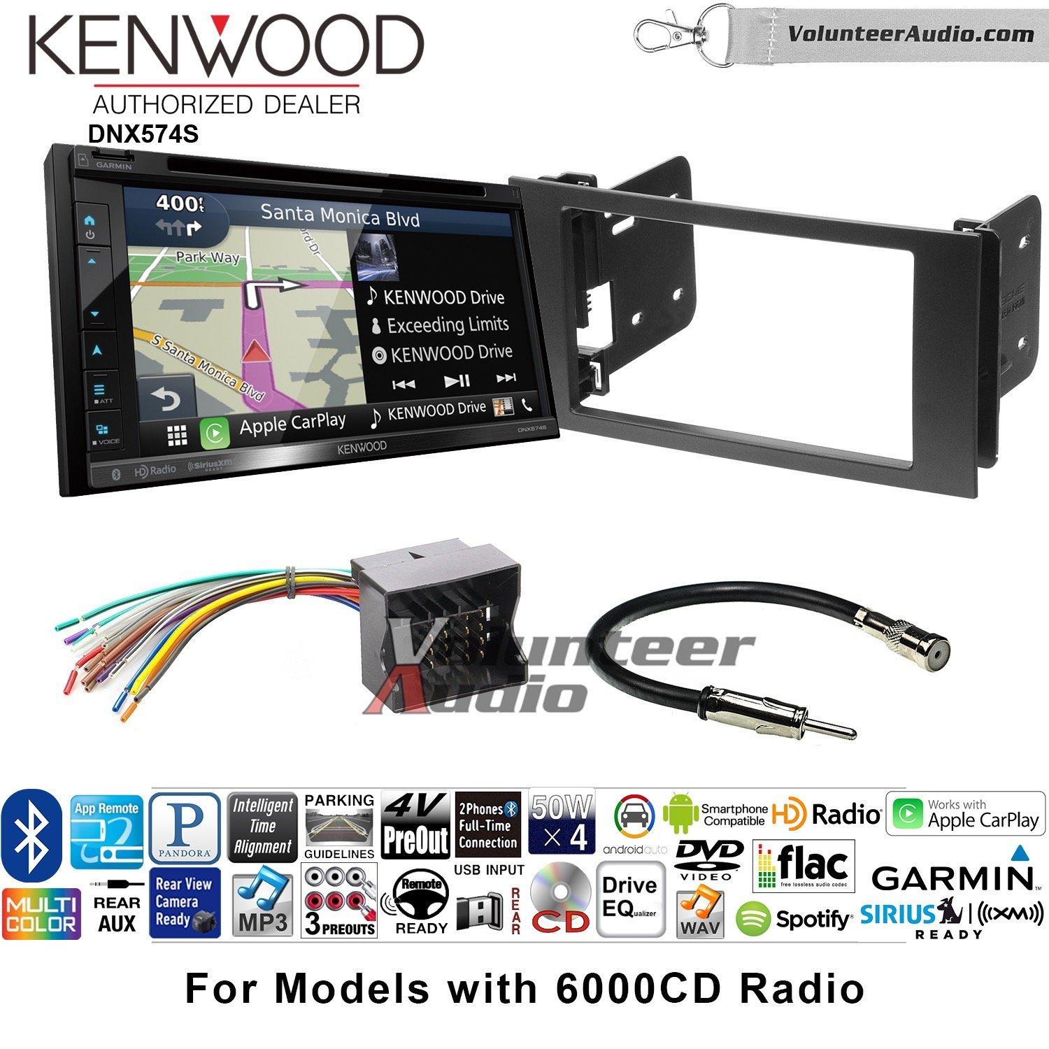 ボランティアオーディオKenwood dnx574sダブルDINラジオインストールキットwith GPSナビゲーションApple CarPlay Android自動Fits 2010 – 2011 Transit Connect B07C28T3D1