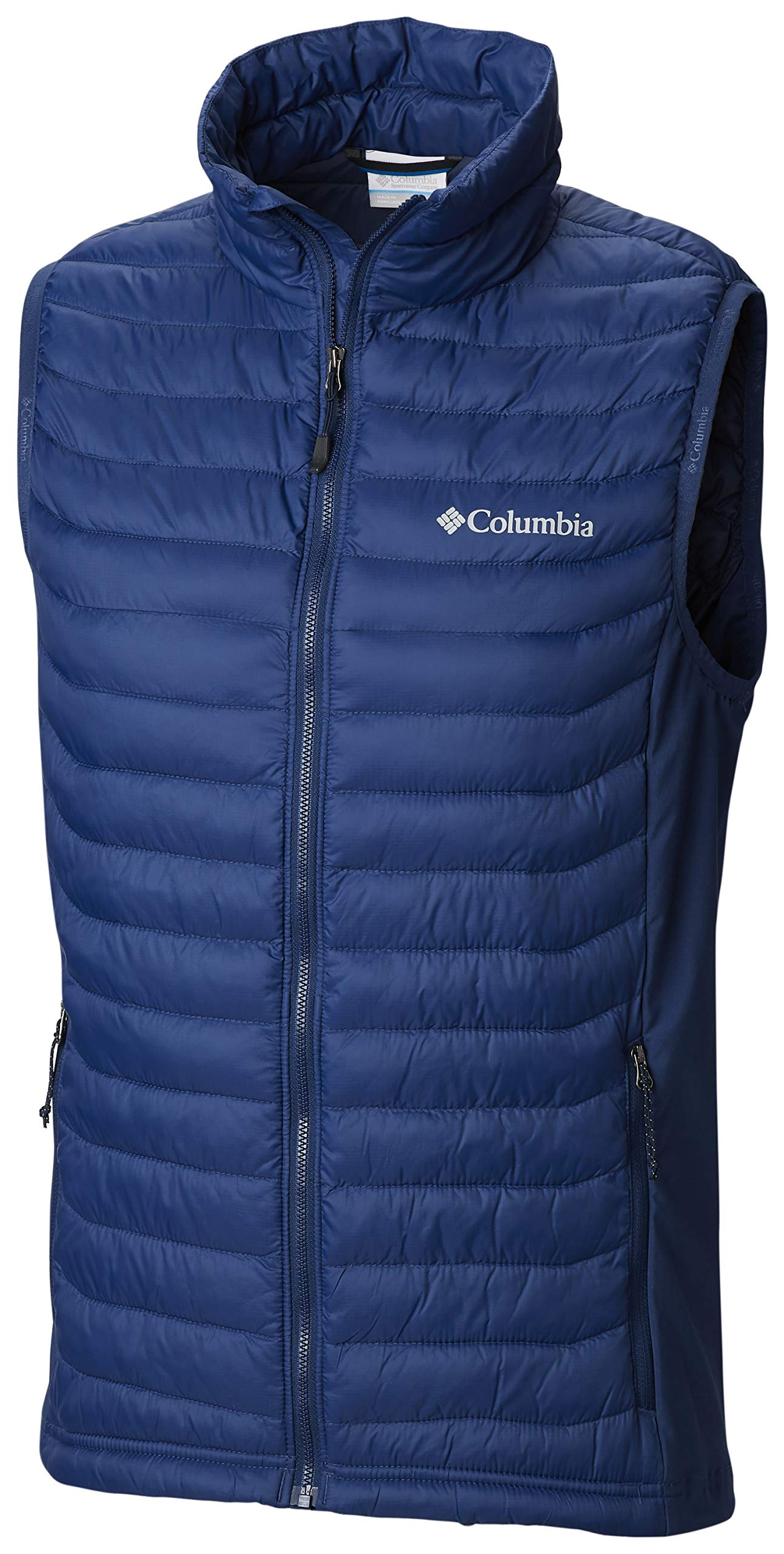 Columbia Men's Powder Pass Vest, Insulated, Water Resistant, Carbon, XX-Large by Columbia