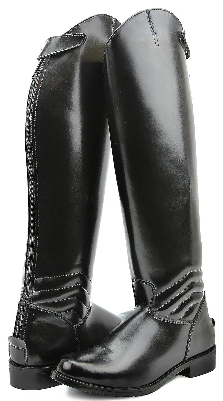 Hispar女性レディースエレガントドレスDressage Boots Boots with Zipper英語Riding Equestrian ブラック B01H5ZIVJ4 8 Slim Slim Calf|ブラック ブラック 8 Slim Calf, タルタルーガ:b51e2518 --- lindauprogress.se