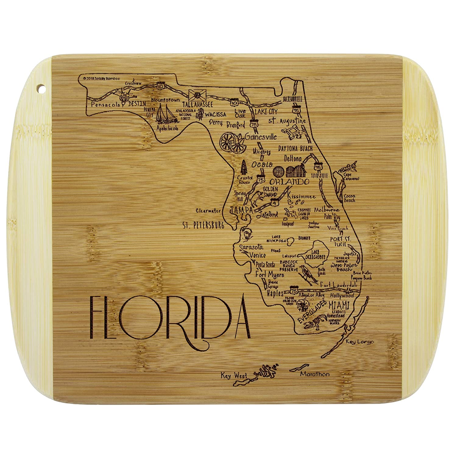 Totally Bamboo A Slice of Life Florida Bamboo Serving and Cutting Board