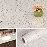 Livelynine 15.8 x 394 Inch Contact Paper Granite Countertop Adhesive Wallpaper