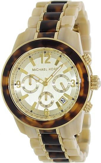 Michael Kors MK5764 - Reloj con correa de acero y silicona para mujer, color dorado