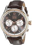 Cerruti 1881 - CRA107STR13BR - Montre Homme - Quartz - Analogique - Bracelet cuir Marron