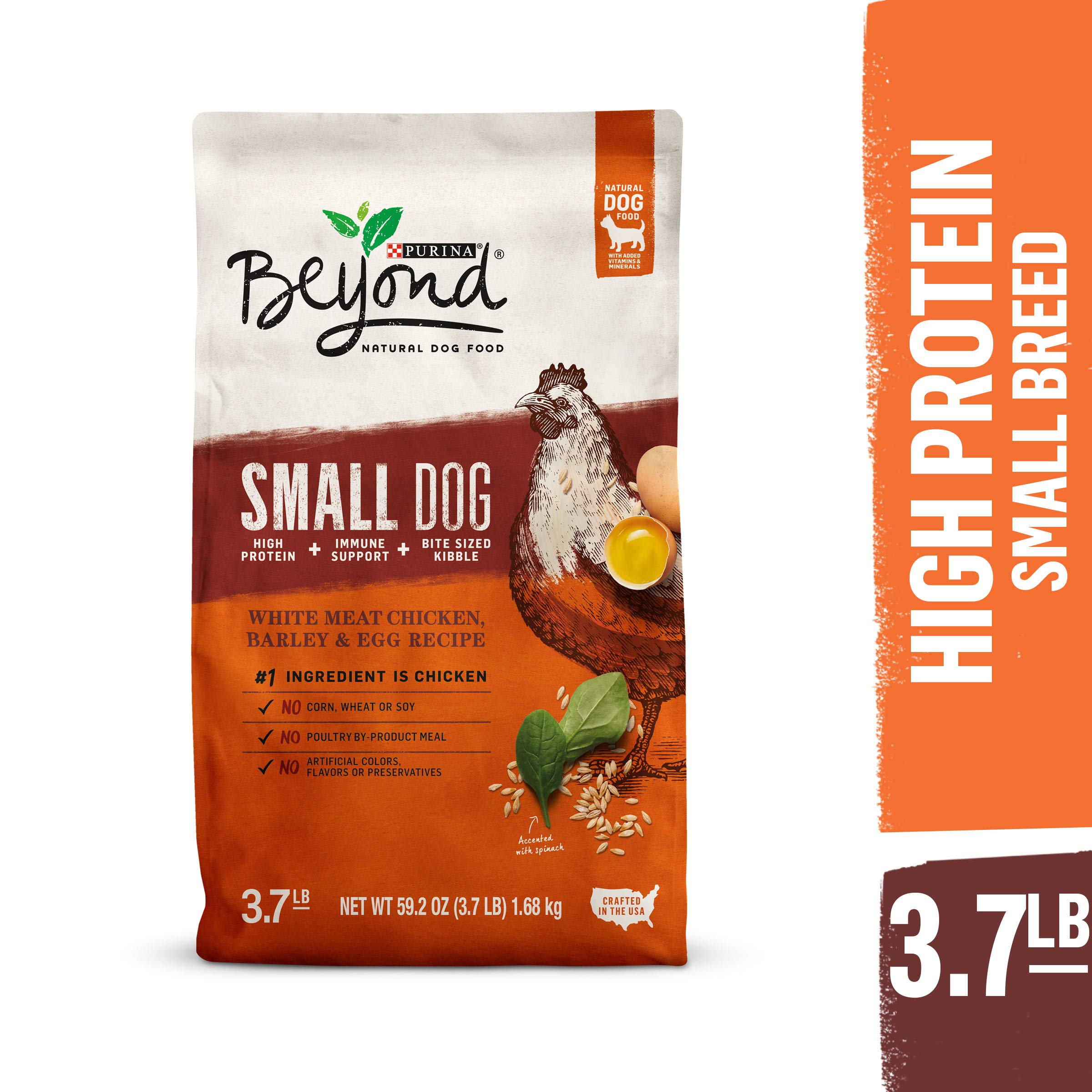 Purina Beyond Natural, High Protein Small Breed Dry Dog Food, Chicken, Barley & Egg Recipe - 3.7 lb. Bag