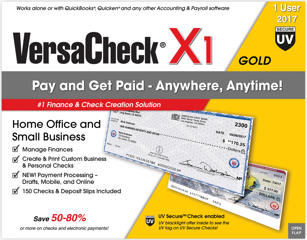 VersaCheck X1 Gold UV Secure 2017 by VersaCheck