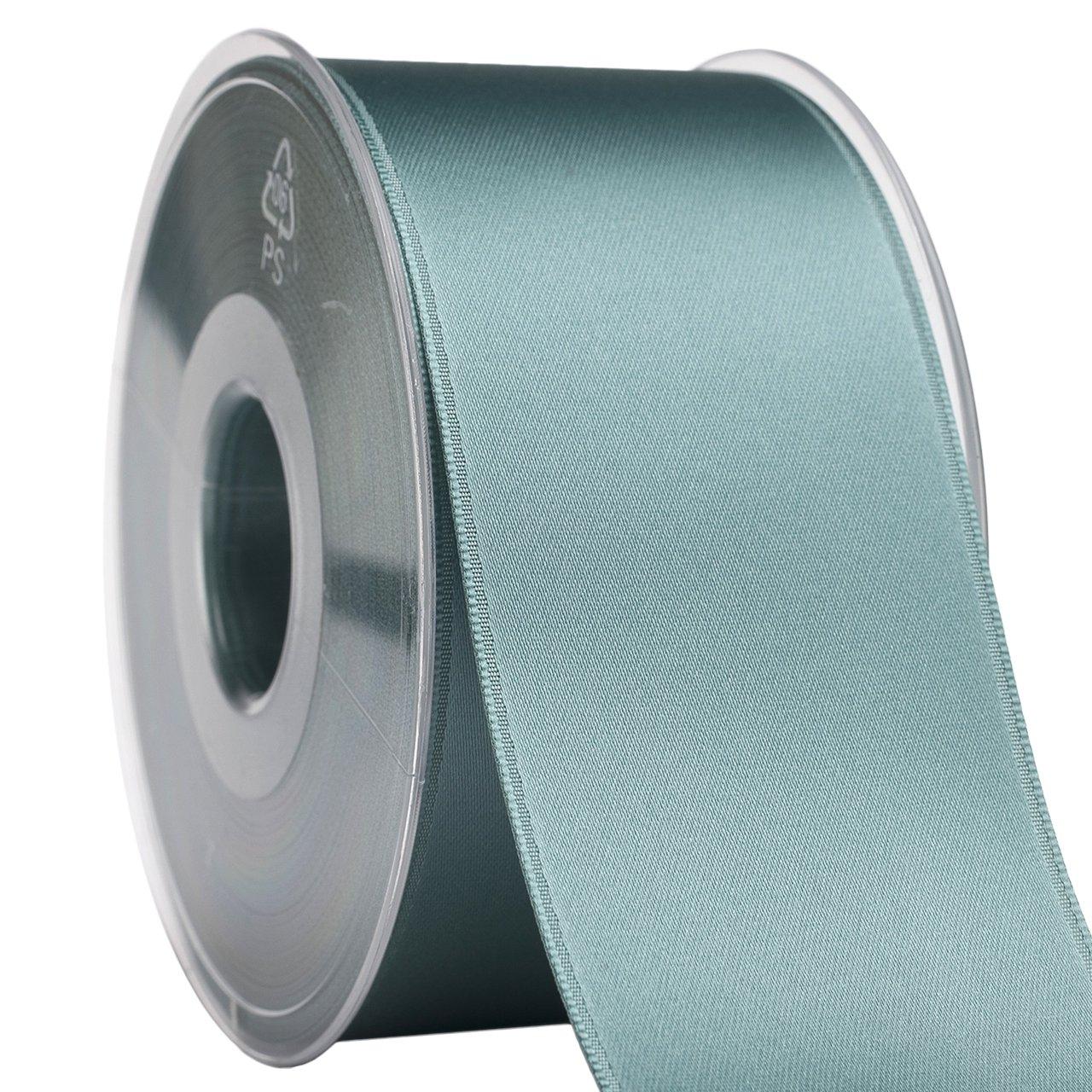 035 スイスサテン 03550/25-788 ファブリック リボン、5.08cm x 68.58m、ブルーヘイズ   B079NWRT4Q