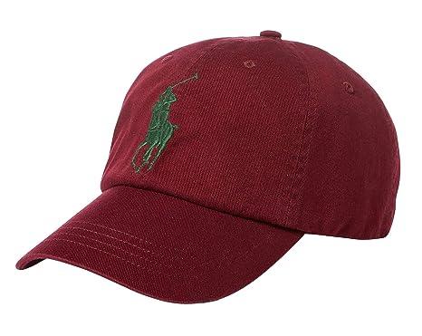 Ralph Lauren - Gorra de béisbol - Big Pony - Vino Tinto clásico: Amazon.es: Ropa y accesorios