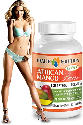 African Mango Complex- African Mango Lean Extra Strength Formula 1200mg - Weight Loss Herbal Supplement with Green Tea Extract 1 Bottle 60 Capsules